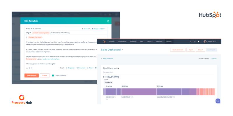 HubSpot -Sales - Email Template & Dashboard -Screenshot