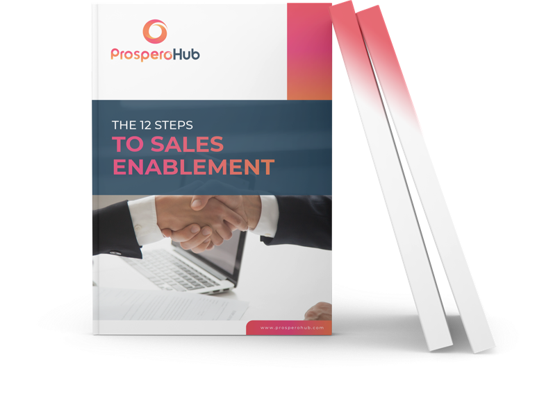 12 Steps to Sales Enablement landing page book image