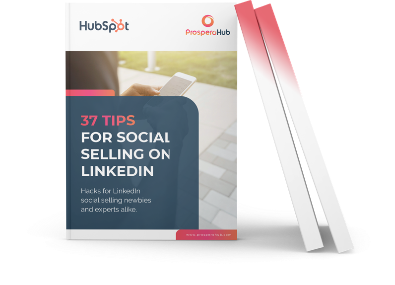 37 Tips for Social Selling on LinkedIn landing page book image
