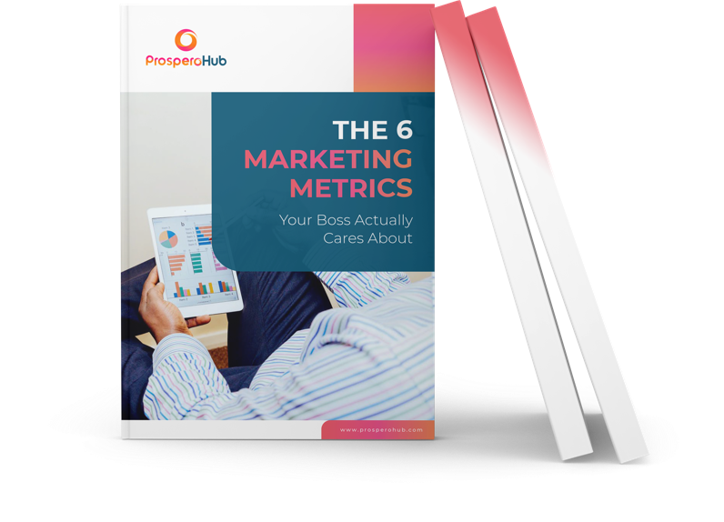 The 6 Marketing Matrics Your Boss Actually Cares About landing page book image