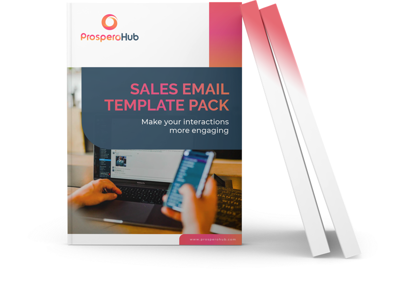 Sales Email Template Pack landing page book image