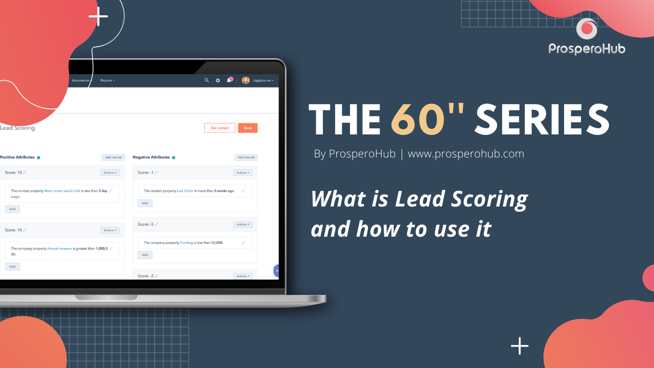 60 Second Series - Lead Scoring